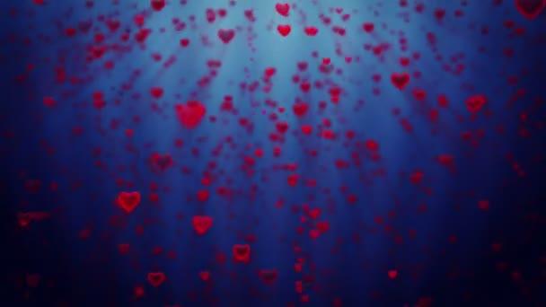Dovolená srdce roste, proti modré