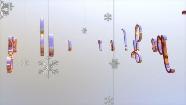 Šťastný nový rok titul s plovoucí papírové vločky