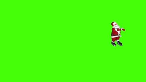 Santa Claus lustig tanzen, Chroma-Key