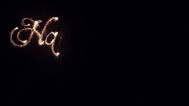 Jiskří, psaní šťastný nový rok