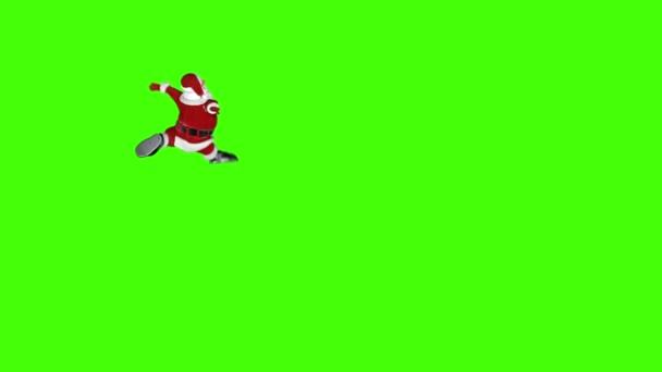 Santa Claus tun einen lustigen Tanz, Chroma-Key