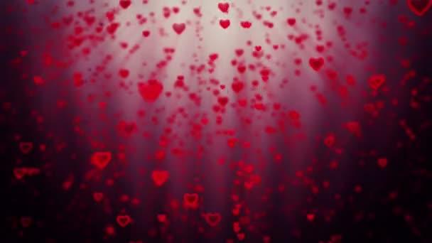 Dovolená srdce roste, proti červené