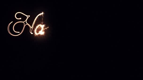 Svátek světel psaní textu šťastný nový rok