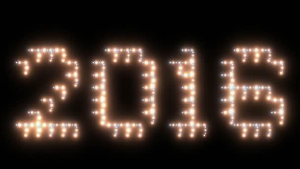 Nový rok, 2016 text, animovaná světla