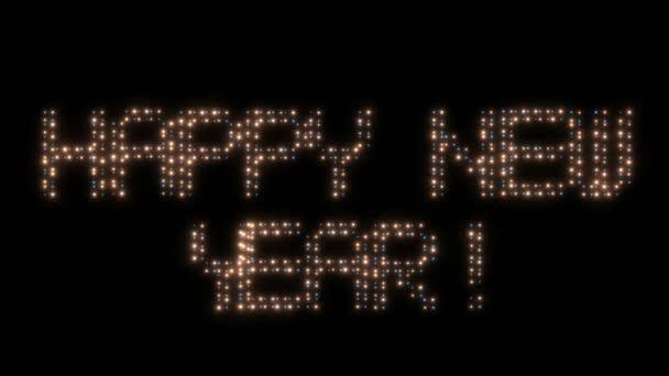 Šťastný nový rok, animovaná světla