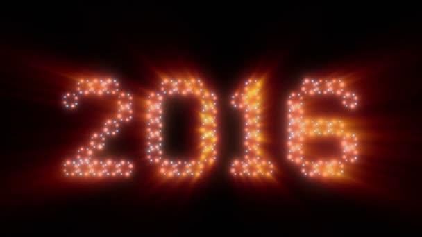Új év, 2016text, animációs fények, ragyog