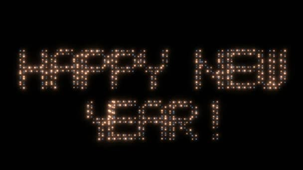Happy New Year, animated lights