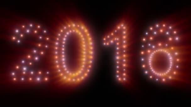 Nový rok 2016 animovaný světla, nebo se