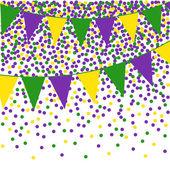Mardi Gras Strnad pozadí s konfety