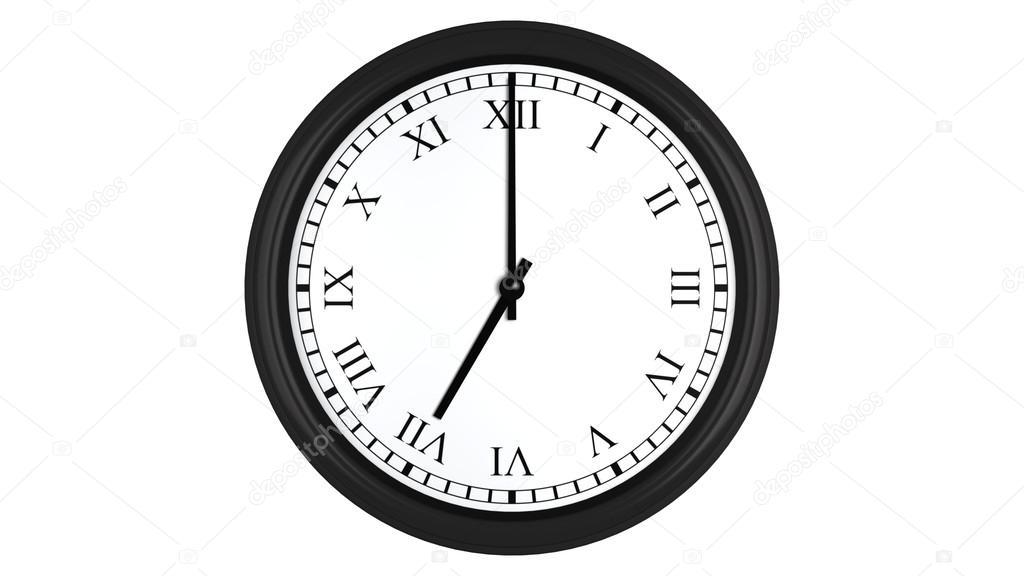 Realistica 3d orologio con numeri romani fissato a 7 for Orologio numeri romani