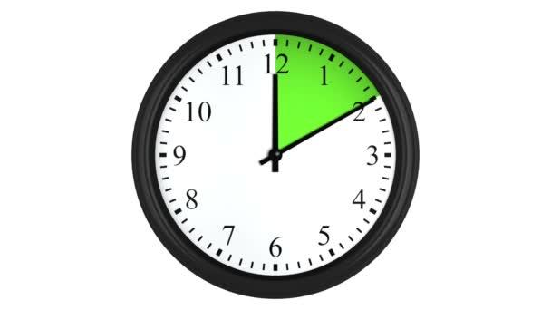 Reloj Animado Con Un Intervalo De Tiempo Verde
