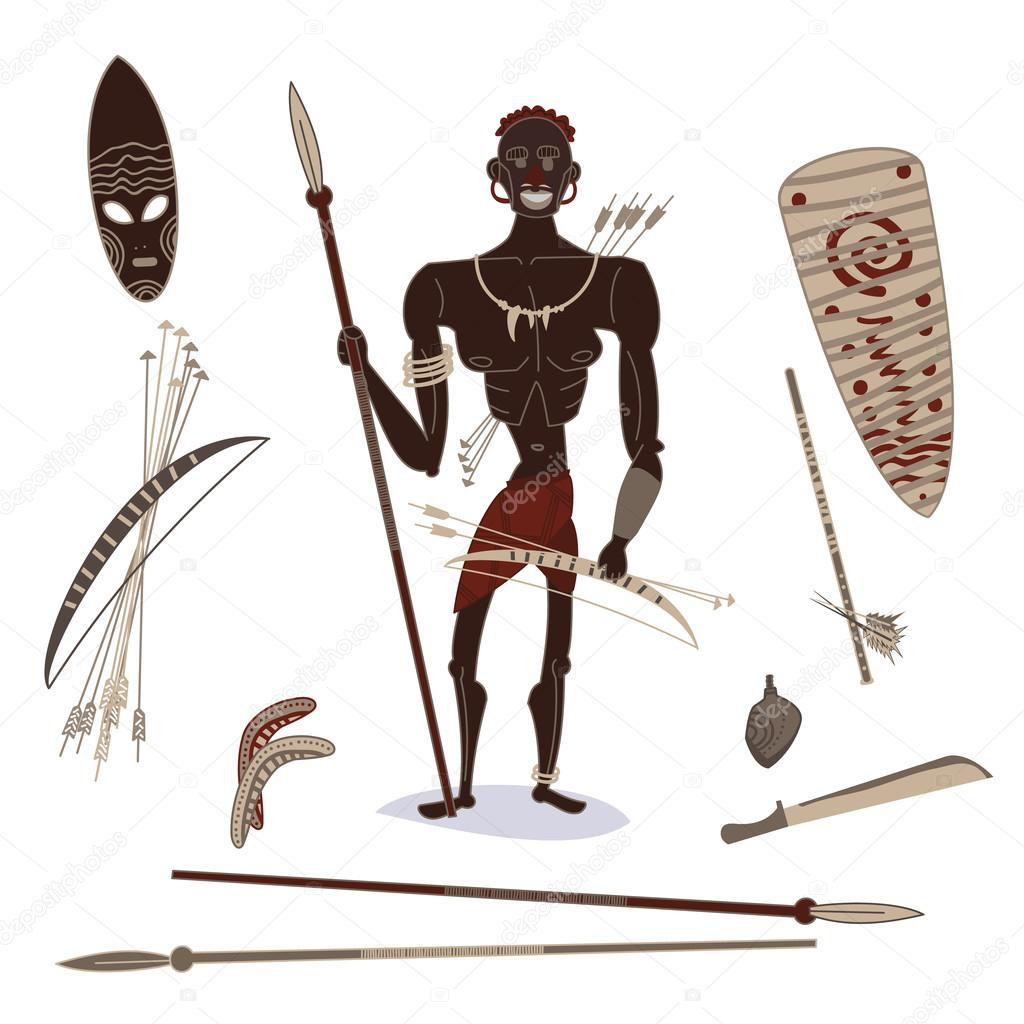 african aboriginal hunter