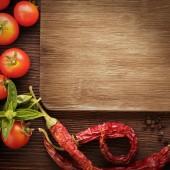 Fényképek fűszerek és zöldségek, megelőlegezve a főzés