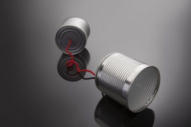 phone toy from a tin