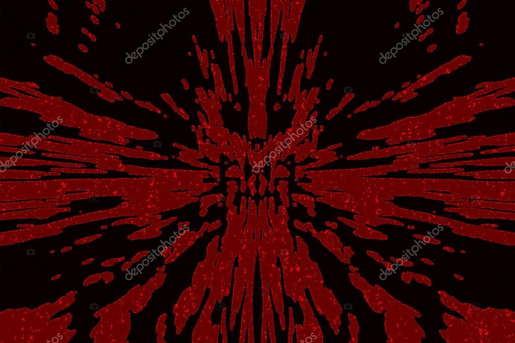 noir avec des taches rouges sang et les projections — photo #110315060