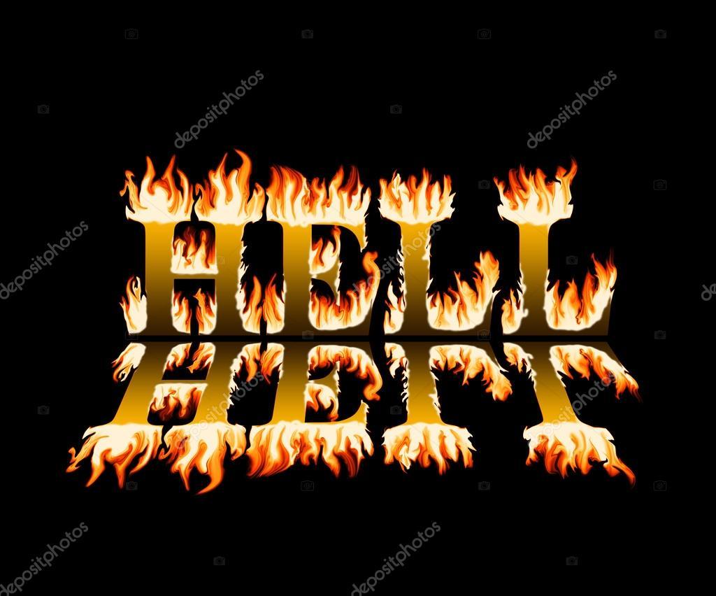 Inferno Em Chamas Good palavra inferno em chamas, com reflexão, sobre fundo preto