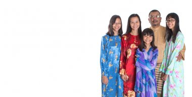 Asian Malay Parents With Teen Daughters
