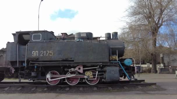stará parní lokomotiva. retro železnice. retro vlak. prvky železnice.
