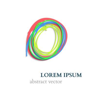 Abstract Handraw Lines Circles. Vector