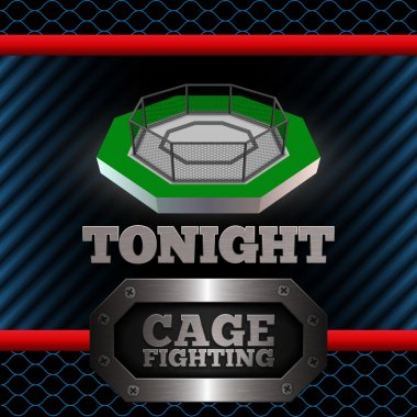 Cage Fighting. Poster. Vector