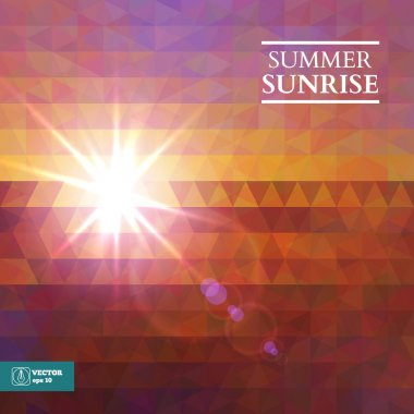 Abstract Summer Sunset Background. Vector