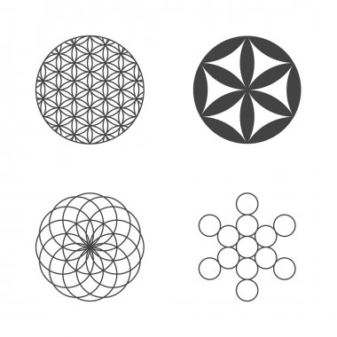 Flower of Life. set of icons. design elements