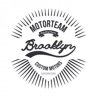 Motorteam Brooklyn. T-shirt graphic.