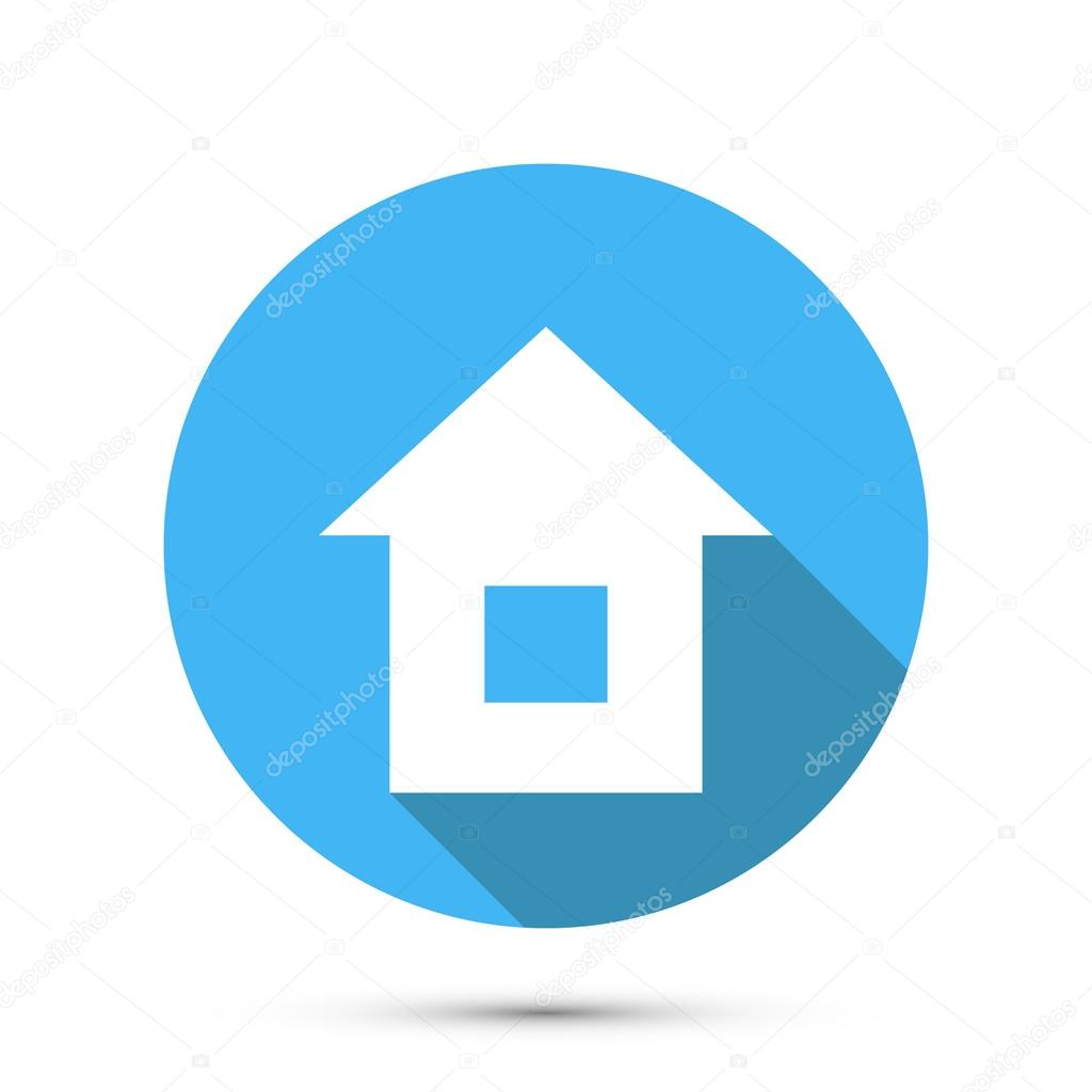 Flat Style Home Icon. Vector