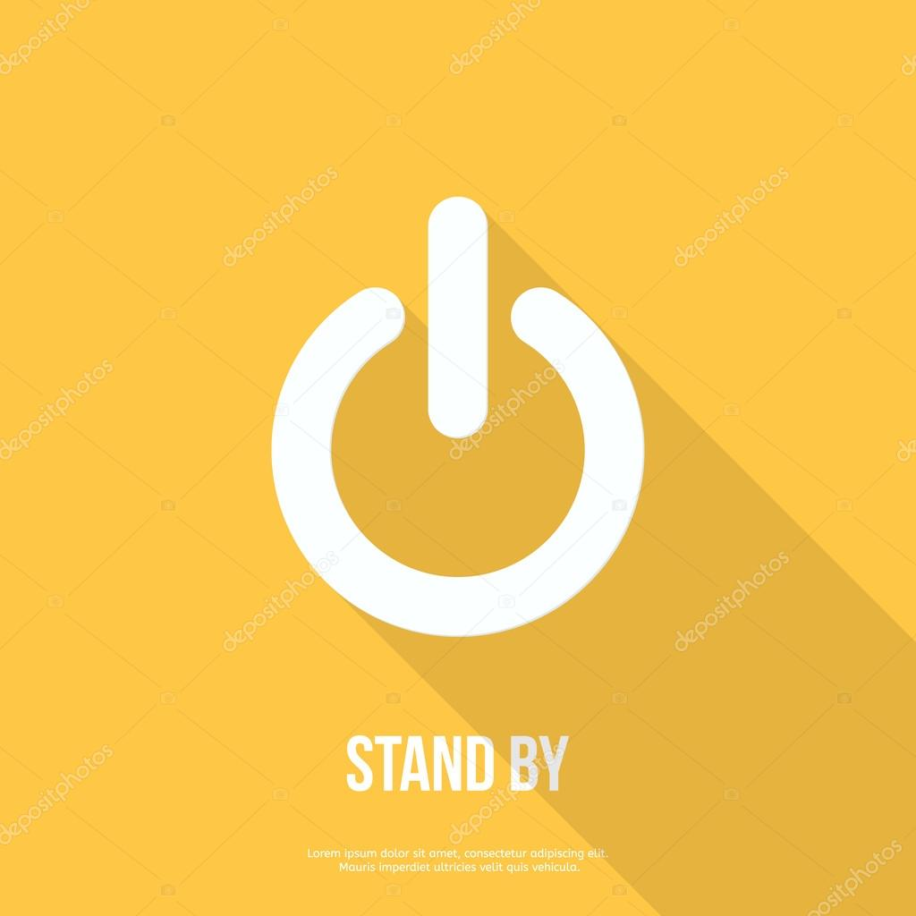 On Off Switch Icon Power Symbol Flat Design Stock Vector