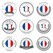 Photo Made in France, seals, badges. Vector