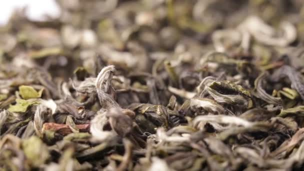 Zblízka Střídající lístky zeleného čaje