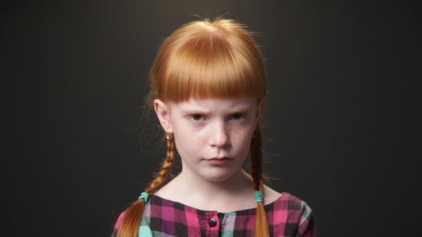 Close up sad ginger girl