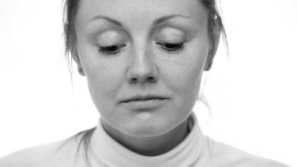 Close up sad womans face