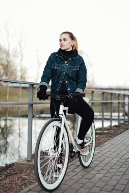 Portrait of a female cyclist