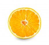 Oranžové plody na bílém pozadí