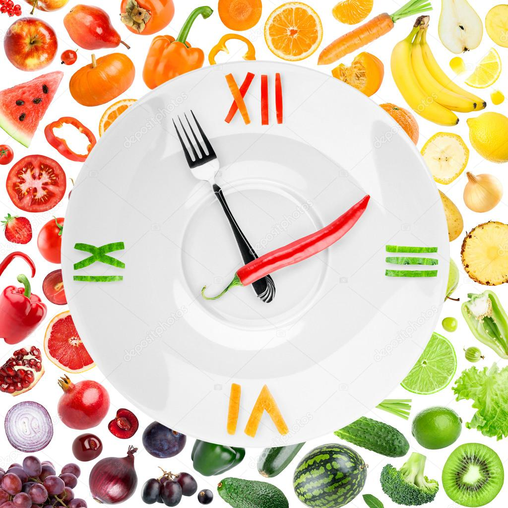 ImágenesDe Stock Foto — Reloj ComidaAlimentos Ybf7mIgyv6