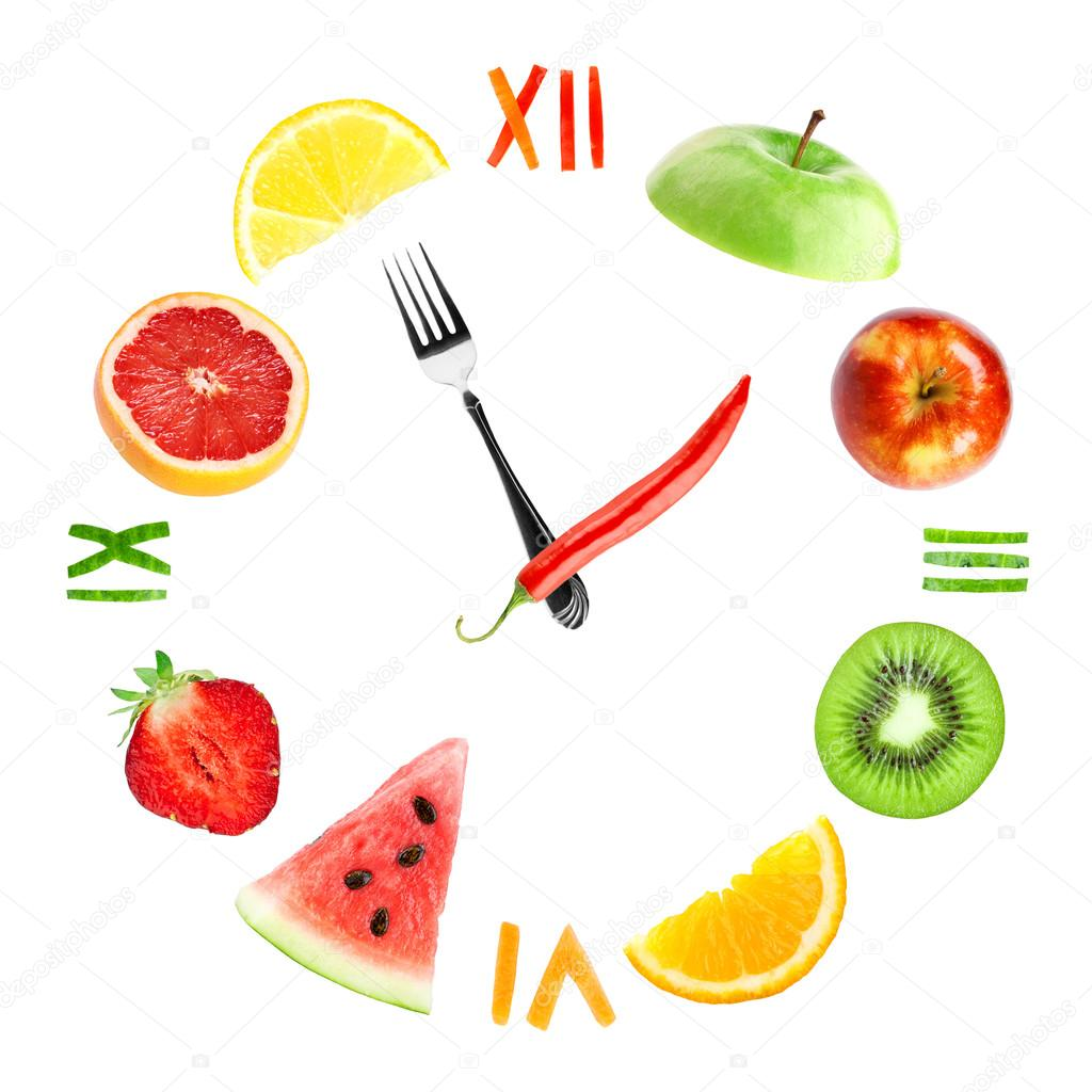 Food Clock With Fruits Stock Photo 169 Seralex 71925321