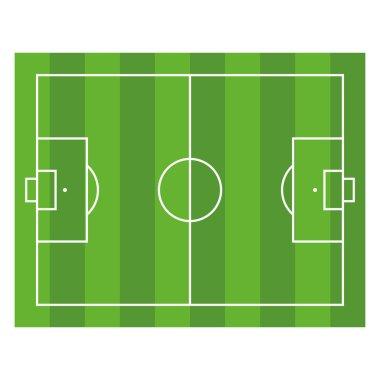 Soccer Field. Top View Football Green Stadium. Vector