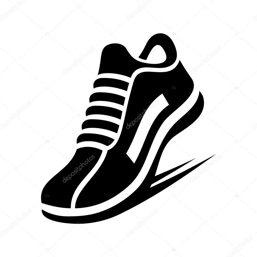 Running Shoe Icon. Vector