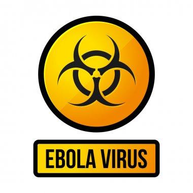 Ebola Yellow Danger Sign. Vector