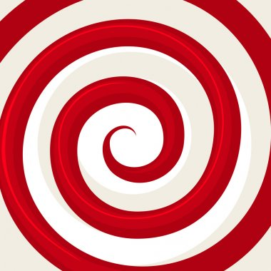 Red Hypnosis Spiral Pattern. Optical illusion. Vector