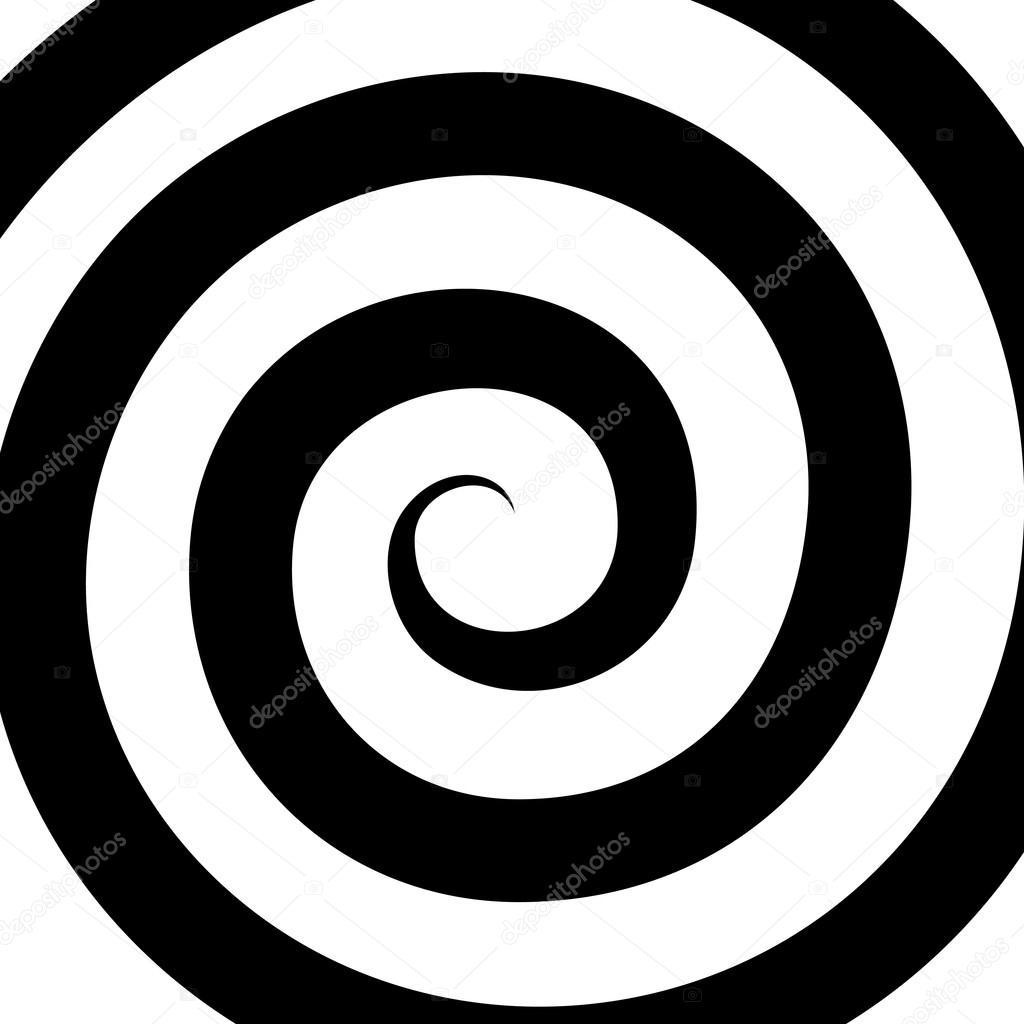 8b51dbbe9 Padrão de espiral de hipnose. Ilusão de ótica. Vector — Vetores de ...