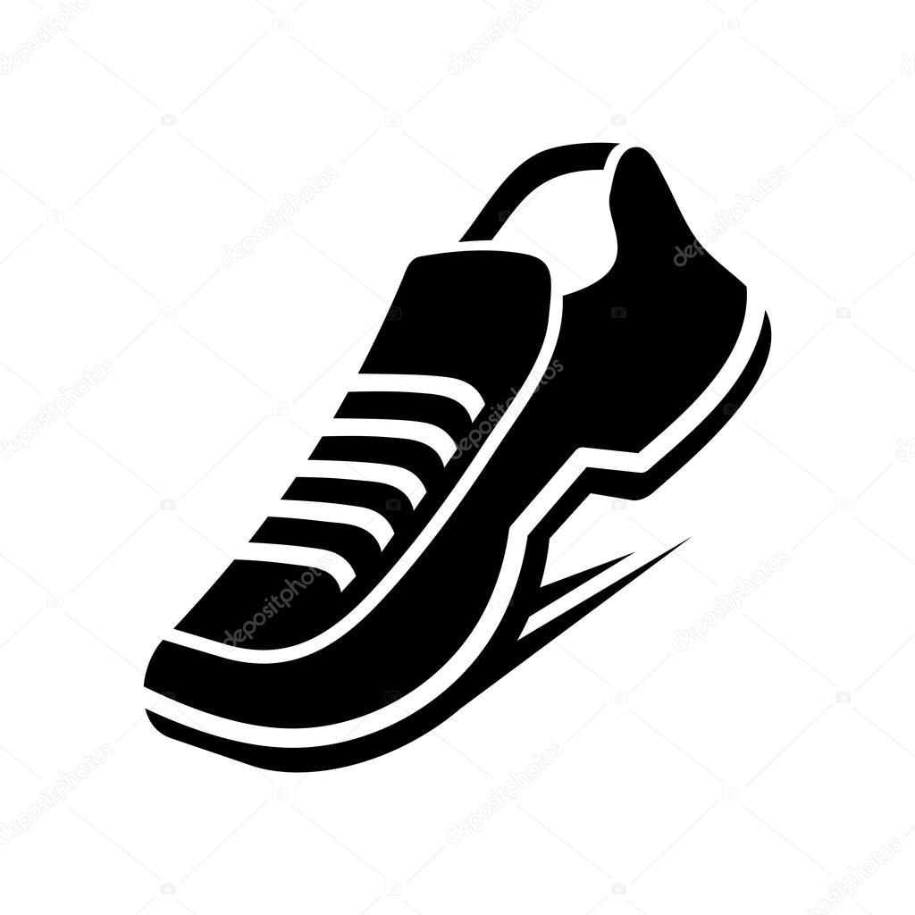 running shoe icon vector stock vector in8finity 60336393 rh depositphotos com running shoe tread vector running shoe sole vector