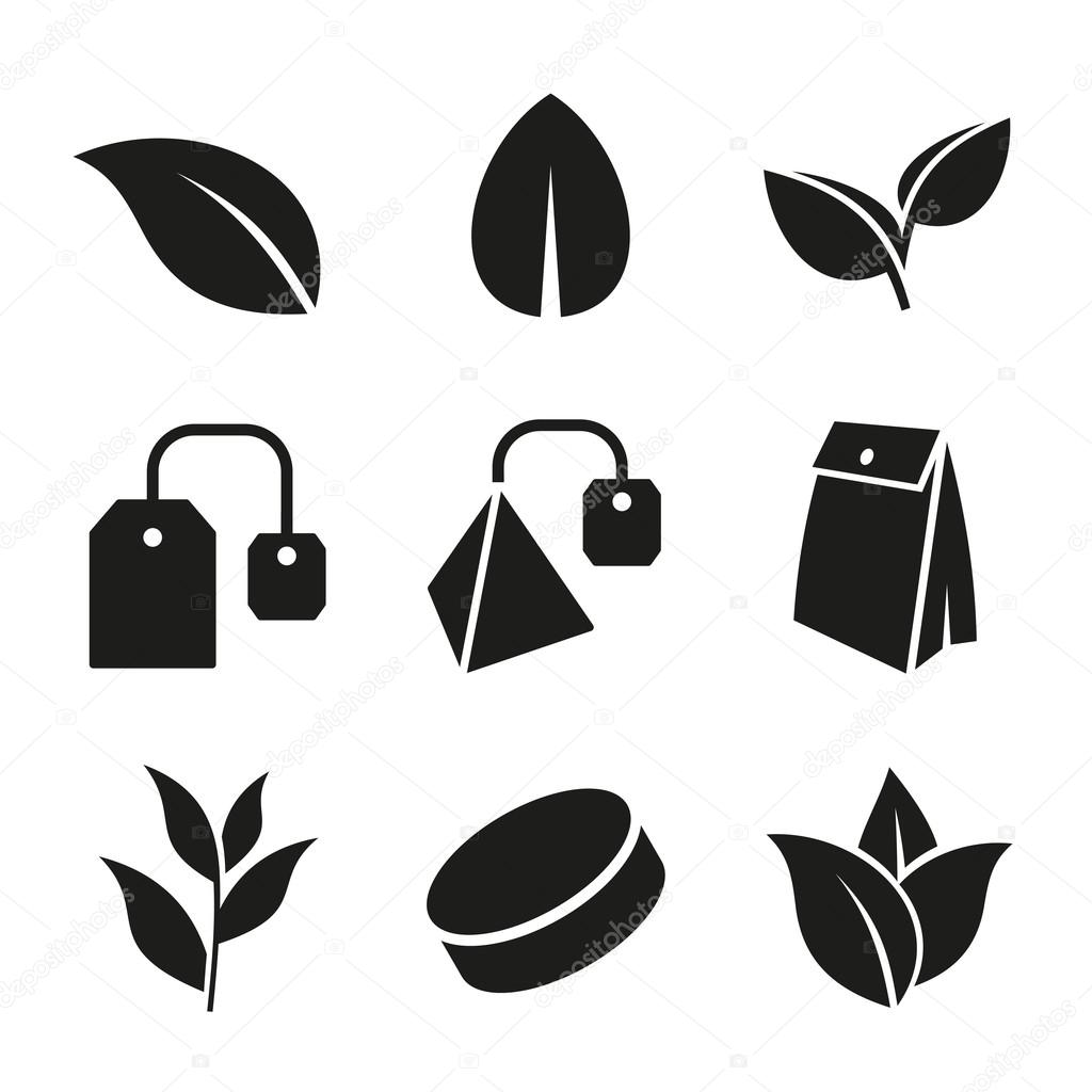 Tea leaf and bags icons set vector stock vector in8finity tea leaf and bags icons set vector stock vector thecheapjerseys Image collections