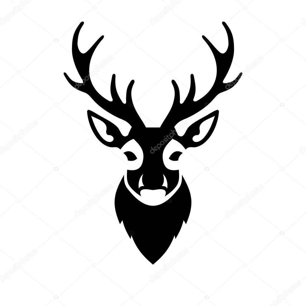 deer head icon vector logo stock vector in8finity 61847007 rh depositphotos com deer head outline logo deer head logos outline