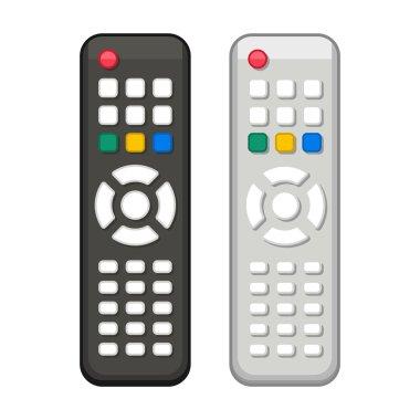 TV Remote Control in Black and White Design. Vector