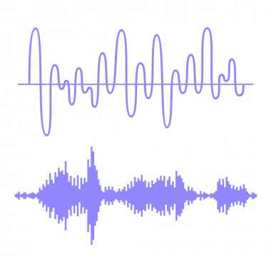 Sound Waves Set. Equalizer Technology. Vector illustration stock vector