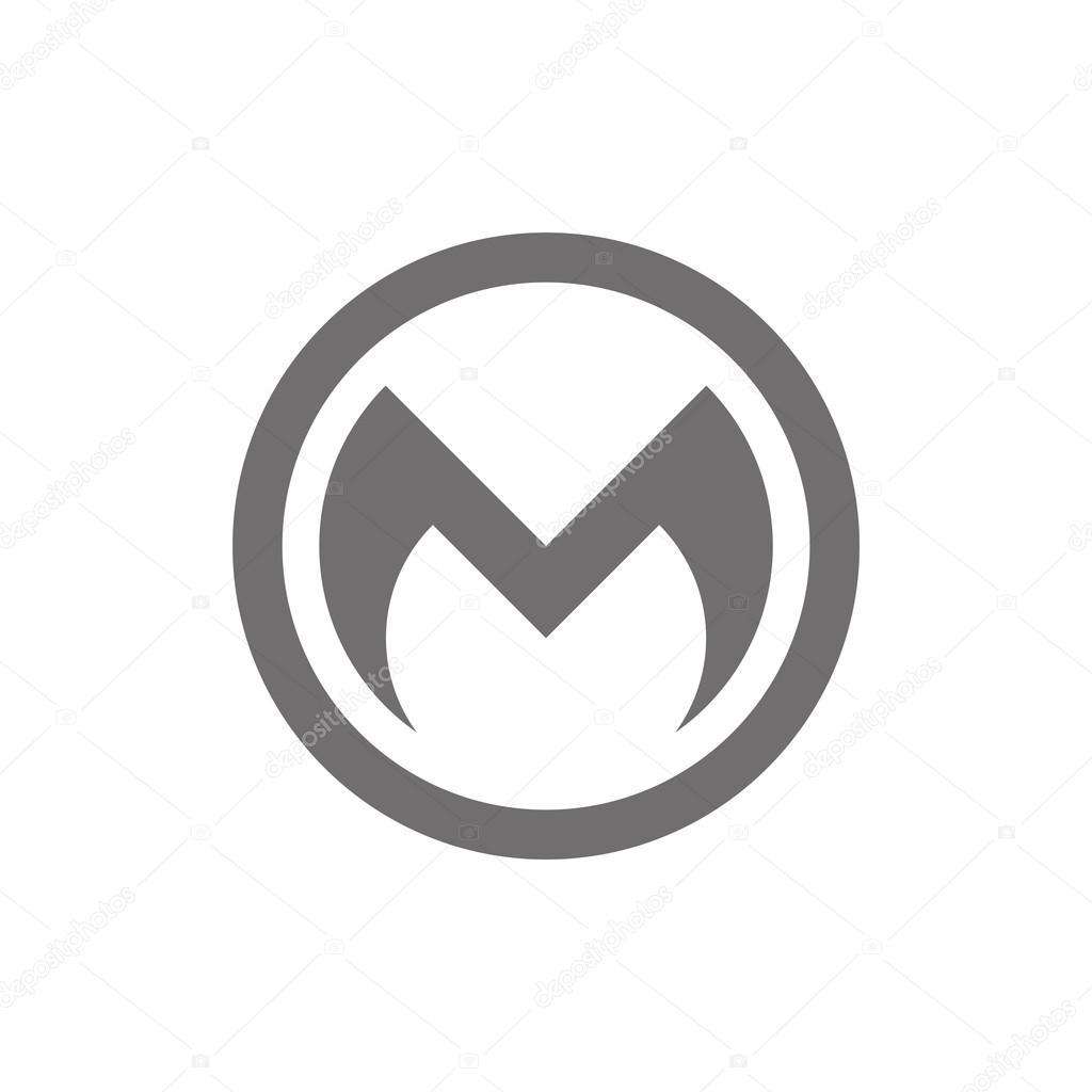 Letter M Logo Concept Icon Vector Stock