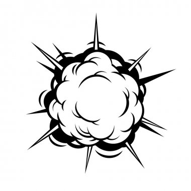Comic Boom. Explosion. Vector