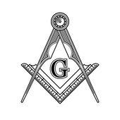 Fotografie Masonic Freemasonry Emblem Icon Logo. Vector